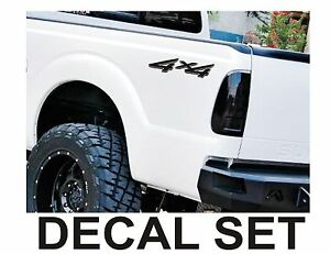 Image Is Loading 4x4 Truck Bed Decals Matte Black Set For