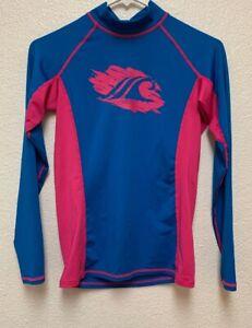 NWT-Ladies-Women-039-s-Long-Sleeve-Tesla-Rashguard-Surf-board-Shirt-Sz-S
