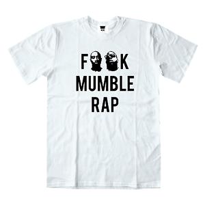 12f500edf No Mumble Rap White T-shirt Tupac Shakur 2Pac Biggie Smalls Hip Hop ...