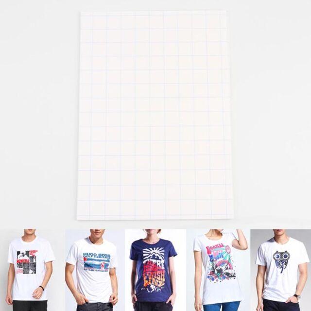 1Pcs New T-Shirt A4 Iron-On Inkjet Heat Transfer Paper  For Fabrics Cloth