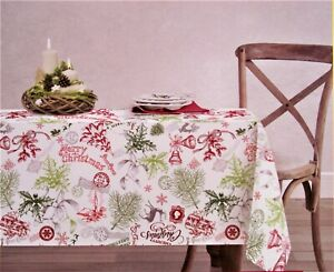 Envogue Holiday Collection Christmas Tablecloth 60 In X 84 Oblong 100 Cotton Ebay