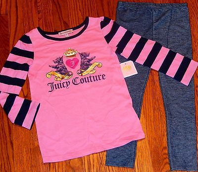JUICY COUTURE TODDLERS/KIDS GIRLS BRAND NEW 2Pc LEGGING DRESS SET/SUIT Sz 4T,NWT