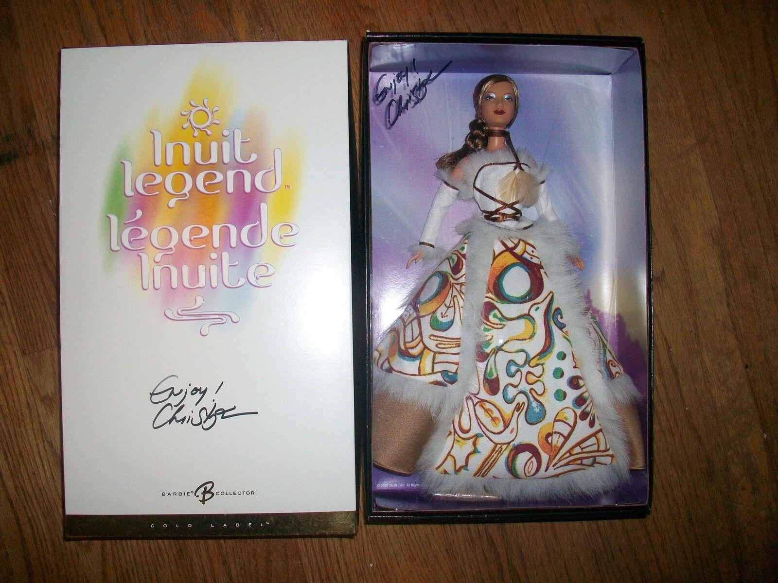 Leyenda De Barbie canadiense exclusivo firmado Inuit raro duro encontrar