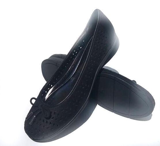 New Lauren Ralph Lauren black  leather women's shoes size 8