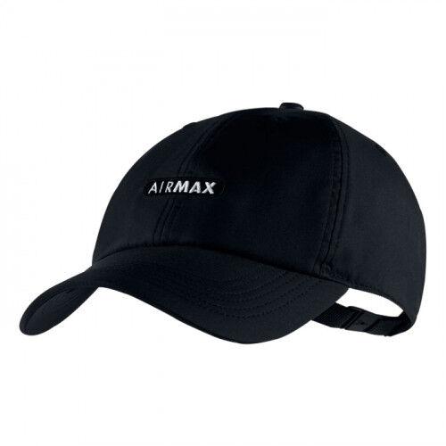 Nike Air Max H86 Heritage Aerobill Unisex Cap 891285 010 Black Adjustable