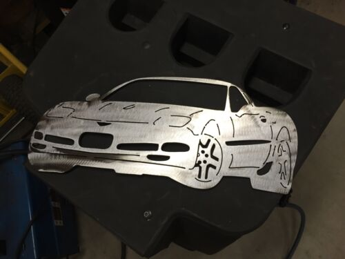Plasma cut C5 Corvette metal man cave sign garage art  Chevrolet