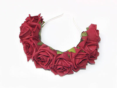 Burgandy Flower Crown /Head Band