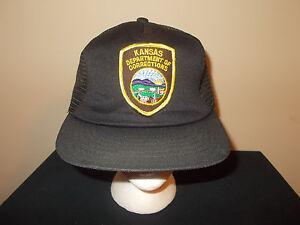 Herren-accessoires Vtg-1990s Kansas Department Of Korrekturen Direktor Wächter Orden Snapback Kappe Kleidung & Accessoires