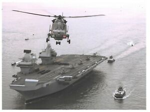 8-x-6-034-Print-Royal-Navy-Aircraft-Carrier-HMS-Queen-Elizabeth-at-Portsmouth-38L