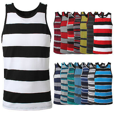 NE PEOPLE Sleeveless Multi Colored Striped Mens Tank Top 15 Colors NEMT25