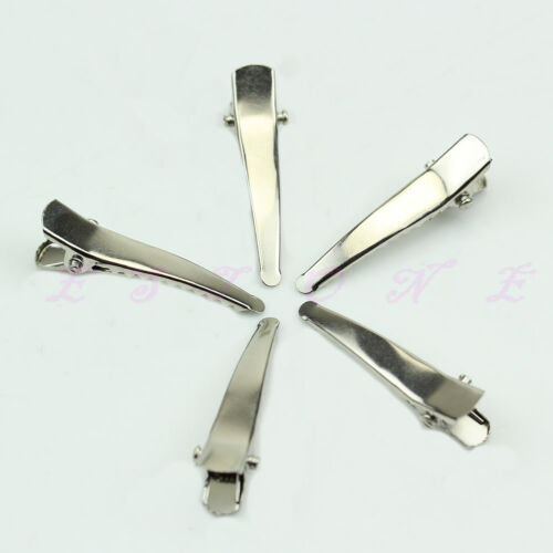 wholesale 34mm Metal Single Prong Alligator Bow DIY Hair Clips