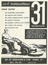 W5005 Motocoltivatore Comiot-Gravely - Pubblicità 1962 - Advertising