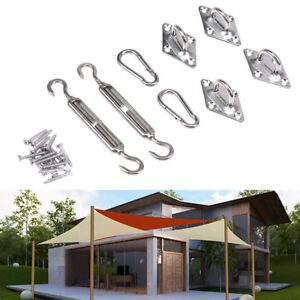 8 Pcs Lot Triangle Sun Shade Sail Stainless Steel Hardware