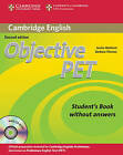 Objective PET Student's Book without Answers with CD-ROM by Louise Hashemi, Barbara Thomas (Mixed media product, 2010)
