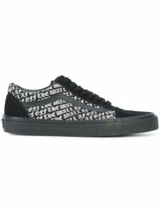 Da Uomo Vans Old Skool Sneaker OTWAF Nero/Bianco Stampa VN0A38G1OQN Varie Taglie UK