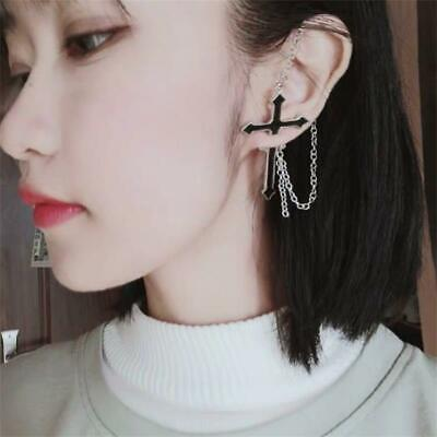Simple Chain Punk Goth Pair of Earrings Jewelry Piercing Fashion Handmade