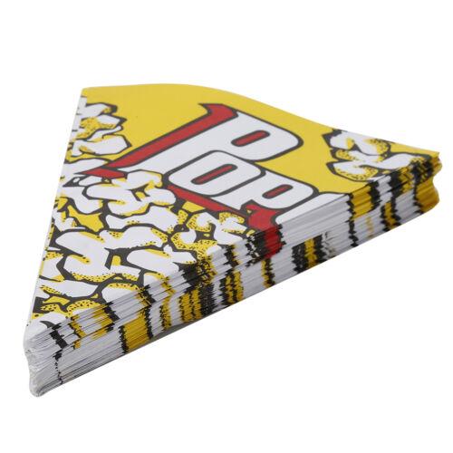 100x Kino Container Popcorn Papiertüten Kinder Party Süßigkeiten 16 CM 20  ZD