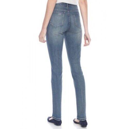 Vintage America Blues Rustic Overtone Boho Embellished Stretch Denim Skinny Jean