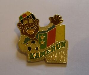 WORLD-CUP-94-USA-SOCCER-CAMEROON-Limited-Edition-500-vintage-pin-badge-Z8J