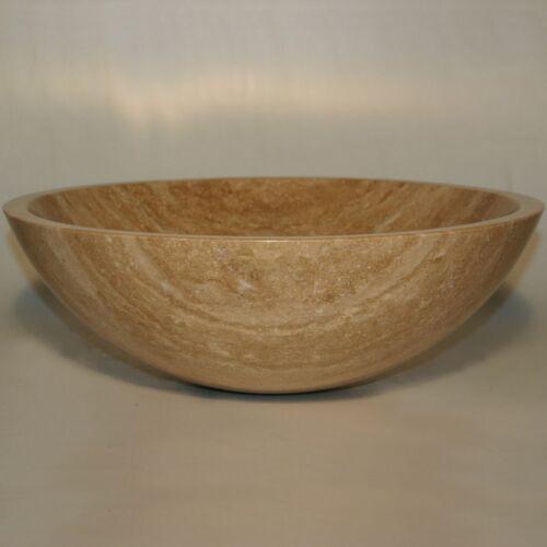 "16.5/"" Modern Travertine Stone Vessel Sink Bowl Lavatory Basin"