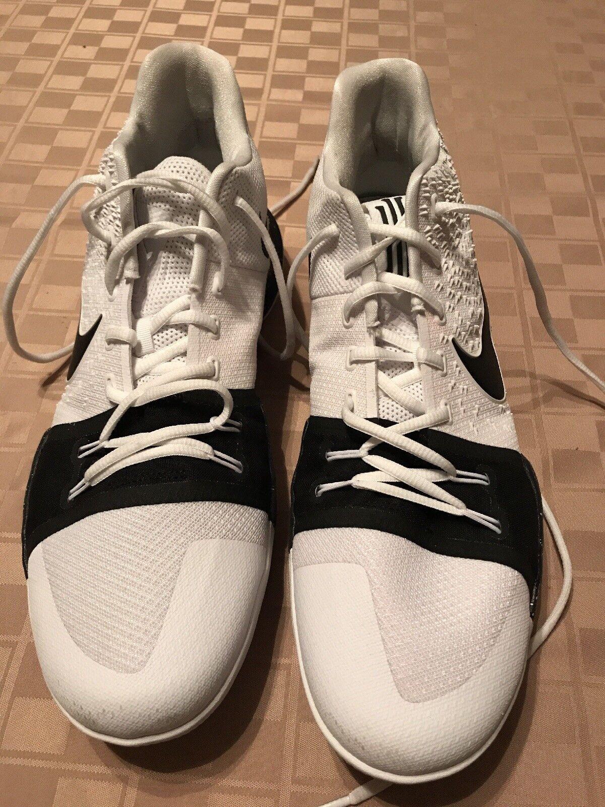 Men's Nike Kyrie 3 Basketball Shoes - White/Black Size 14 917724-100