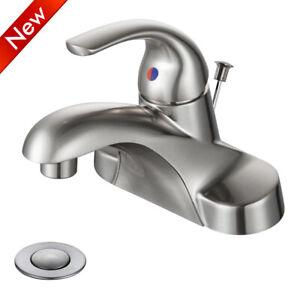 Brushed Nickel Bathroom Basin Sink Faucet Waterfall Spout ...