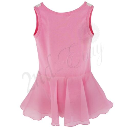 Girls Gymnastics Dance Skating Dress Leotard Tutu Skirt Children Ballet Costumes