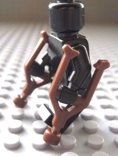 Custom Pair of CRUTCHES for Lego Minifigures WWII Military Hospital City Town