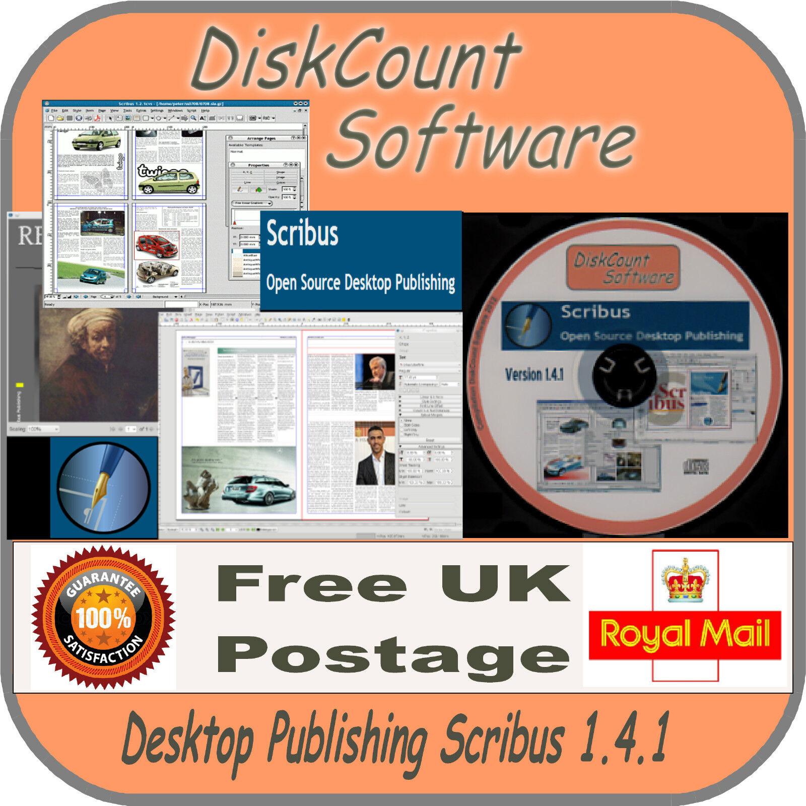 Scribus Desktop Publishing Software DTP Page Design for Microsoft Windows