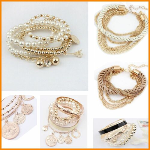 EN PROMOTION NOUVEAU Strass Bangle Jewelry Cuff Bracelet lots style charme