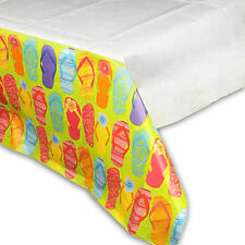"""54"""" x 102"""" Tropical Luau Hawaiian Flip Flop Birthday Party Paper Table Cover"""