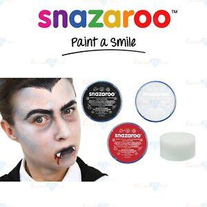 Snazaroo-Face-Paint-amp-Body-Paint-Vampire-Halloween-Black-White-Red-Paint-Sponge