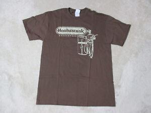 NEW-Hoobastank-Concert-Shirt-Adult-Medium-Brown-Band-Tour-Rock-N-Roll-Music-Mens