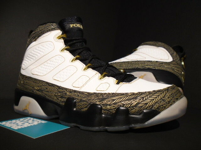 2012 Nike Air Jordan IX 9 Retro DB DOERNBECHER WHITE GOLD BLACK 580892-170 8.5