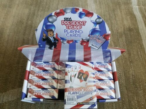 WHOLESALELOT OF 12 DECKSDONALD TRUMP PRESIDENT PLAYINGCARDS with free gift!!!