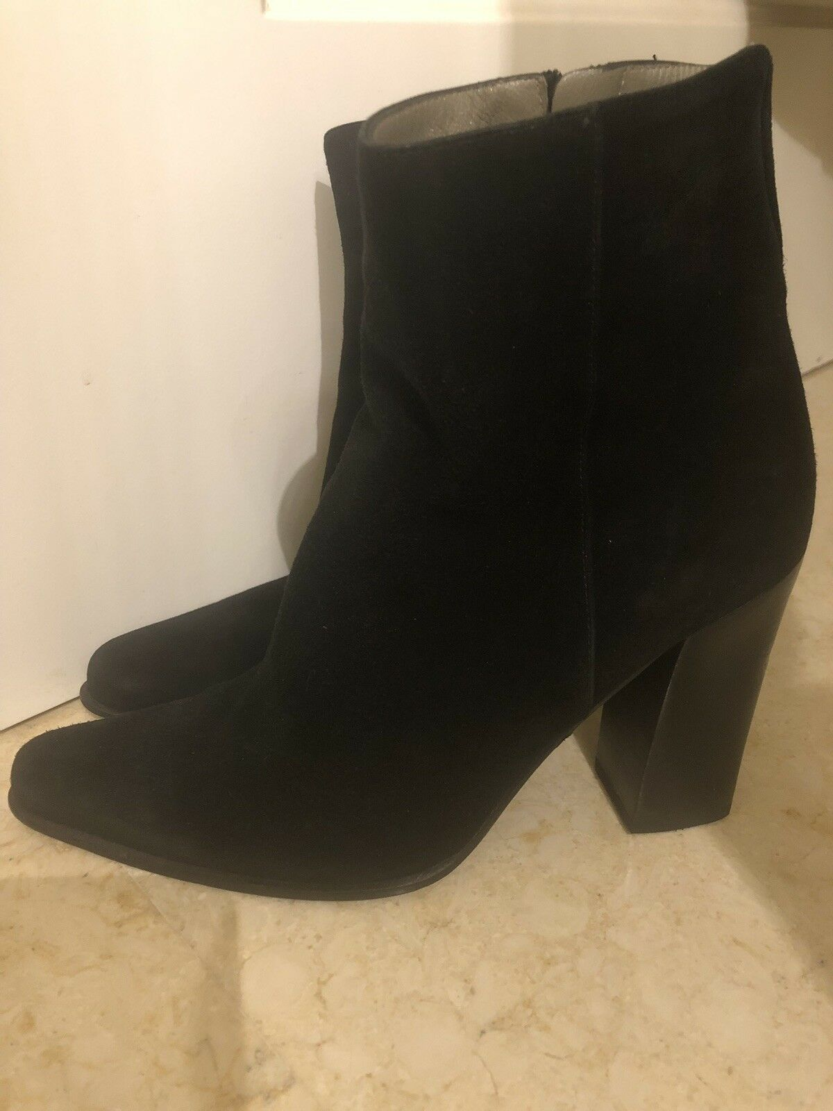 PRADA schwarz SUEDE LEATHER Ankle Stiefel with with with Zip 37 UK 4    b9b48c