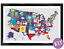 Flags-of-the-USA-Map-Cross-Stitch-Kit