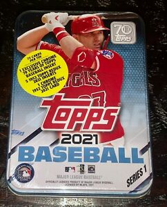 2021 TOPPS Series 1 Tin of Baseball Cards, Factory sealed!