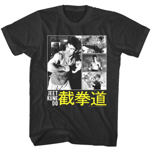 Bruce Lee Jeet Kune Do Chinese Collage Men/'s T Shirt Kung Fu Master Legend Marti