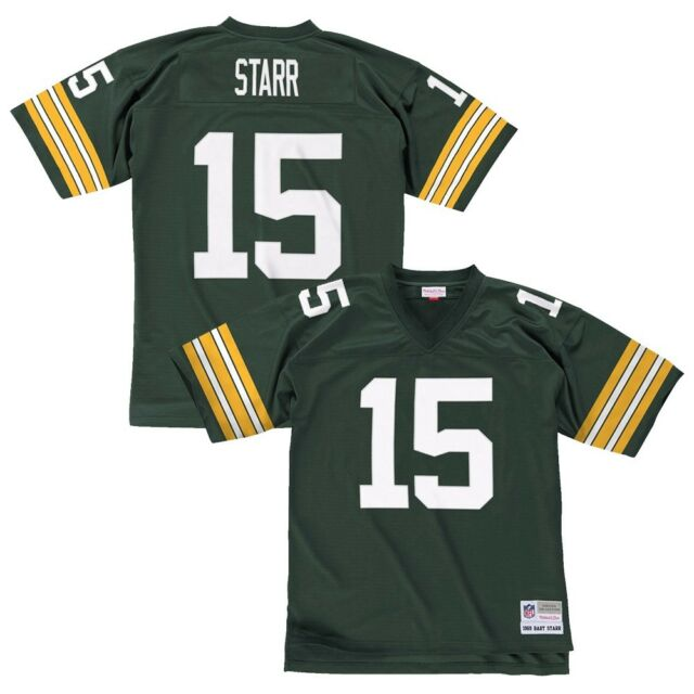 buy popular 40148 097c5 Green Bay Packers Mitchell & Ness 1969 Bart Starr #15 Throwback Jersey XXL
