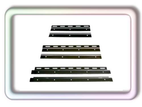 200x2mm PVC Lamellen Streifen Vorhang vormontiert mit Wandschiene+Halteklammern