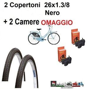 2-Copertone-bicicletta-olanda-Misura-26-x-1-3-8-Nero-bici-2-CAMERA