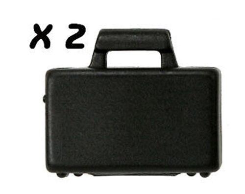 LEGO 2 X BLACK SUITCASE FOR  LEGO MINIFIGURE