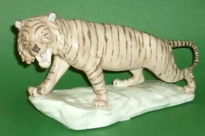 Old-Schwarza-Saalbahn-Tiger-Porcelain-Figurine-Tigerfigur-Figure