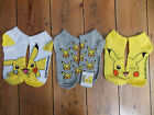 Ladies PIKACHU POKEMON Socks Ankle Trainer Shoe Liners Primark Womens Girls