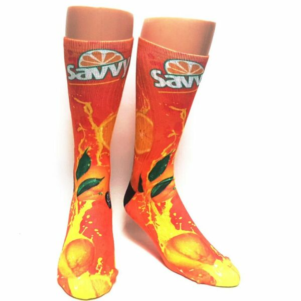 Il Migliore Nuovo Adulto / Bambini Savvy Sox Savvy Arancione Calzini Edizione Limitata Osfa Carino E Colorato