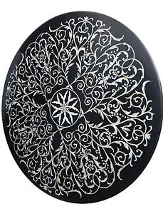 Image Is Loading Vintage Beautiful Marble Table Top Round Stone Decorative