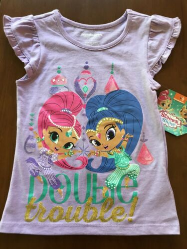 """Shimmer and Shine /""""double trouble/"""" t-shirt toddler girls"""