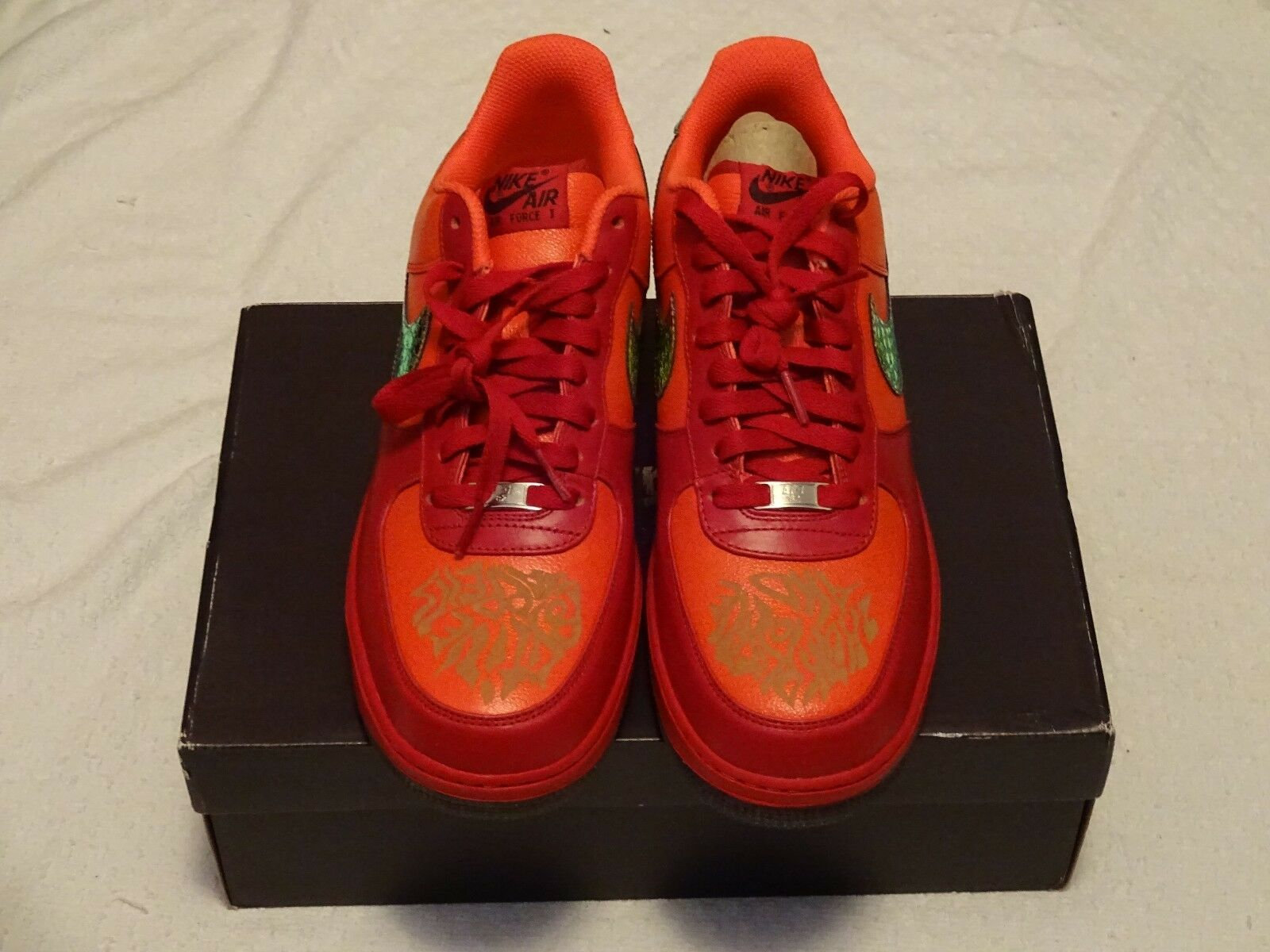 NIKE AIR FORCE 1 '07 LE DOERNBECHER LE DB Team orange Red 349440 800 Size 11