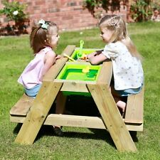 Rebo Sunshine and Showers Children's Sand or Water Picnic Table – 2 Sizes